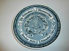 The Columbus Maennerchor, Columbus Ohio 125 years Commemoration Porcelain Plate
