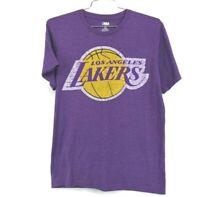 NBA Mens Los Angeles Lakers Purple Crew Neck Shirt Short Sleeve Size Medium