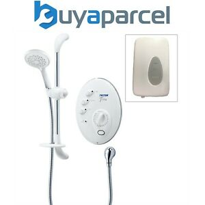 Triton T300si 8.5kw Remote Digital Electric Shower White Chrome + Power Pack