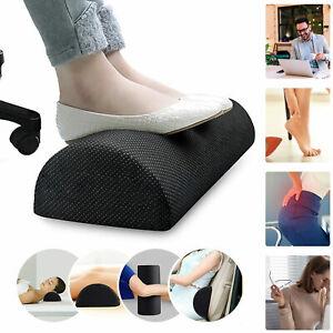 Ergonomic Memory Foam Foot Rest Under Desk Home Office Cushion Footrest Black