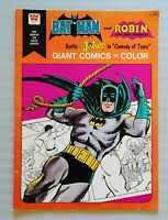 BATMAN & ROBIN, GIANT COMICS TO COLOR, COLORING BOOK, BATTLES JOKER, UNUSED 1975