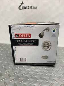 Delta Single-Handle 1-Spray Tub&Shower Faucet in Brushed Nickel B114900C-SS Z-16