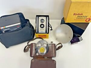 Vintage Camera Bundle Job lot Polaroid Kodak Flasholder Untested