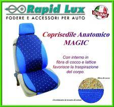 """Coppia Copri sedili Universali Magic Anatomico tessuto e cocco colore """"idra219"""""""