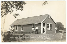 Cousins Island ME Busy Time Store & Post Office Wagon Real Photo Postcard