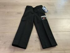 Dickies Boys Flat Front Classic Fit Straight Leg Pants Uniform Black Size 4 Slim