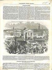 Avant-garde Troupes du Piémont Palais Royal Milan Porte du Tessin GRAVURE 1848