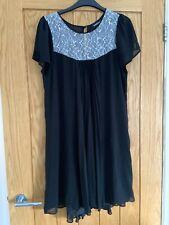 Warehouse Size 14 Black Dress Chiffon