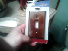 10 < Solid OakToggle Light Switch Wall Plate Cover Amerelle D'ecor Collection