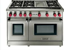 """WOLF 48"""" Gas Range - 6 Burners and Infrared Charbroiler #GR486C"""