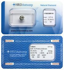 0.71 ct N-O SI1 NATURAL DIAMOND BRILLIANT STRONG VG EXC VG HRD DIAMANT SEALED