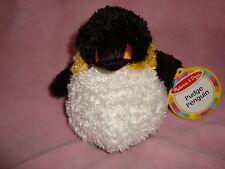 "Melissa & Doug Pudge Penguin 5.5"" Tall W/Tags Plush & Beans"