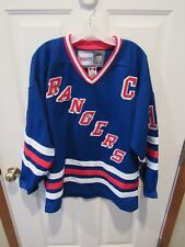 71e8b13de Vintage New York Rangers Hockey jersey Mark Messier CCM size 48 Fight Strap  sewn