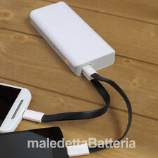 Power Bank 10000mAh Caricabatterie Portatile per iPhone 4 4s 5 5s iPad Bianco