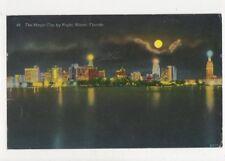 The Magic City By Night Miami Florida USA 1956 Postcard 488a