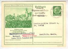 """1937,  P238, ORTSVERKEHR -Ganzsache,"""" Messestadt Leipzig """", 97-1-B2"""