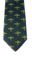 RAF Spitfire Plane Navy Blue silk Tie Mens Neck Tie Gift Royal Air Force