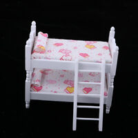 1:12 Dollhouse Miniature Furniture Lovely Bunk Bed Kids Bedroom Accessory