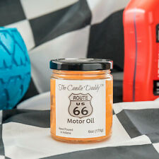Motor Oil Scented Candle Engine Route 66 6oz Car 40 Hour The Candle Daddy NEW