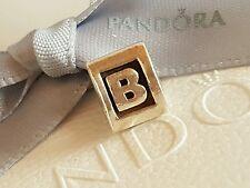 "Genuine Pandora Silver Charm ""Letter B"" - 790323B- retired"