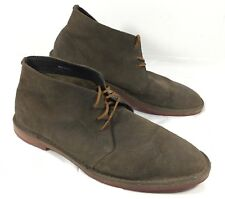 GUC Men's COLE HAAN Brown Suede Leather Chukka Ankle Boots Sz 9.5 M