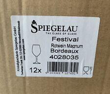 6 Calici Spiegelau Festival Rotwein Magnum Bordeaux Nuovi Champagne, Vino