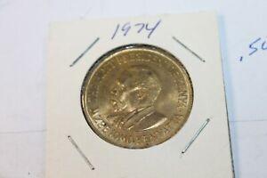1974 Coin, Kenya, 10 Cents, , EF, Nickel-brass