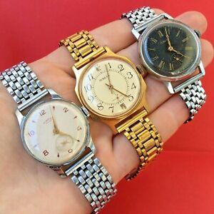 Three Vintage Pobeda Watch USSR + Bonus