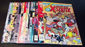 X-STATIX RUN 1-17(9.2-9.6)(NM- TO NM+)MARVEL-MUTANTS-X-MEN-MILLIGAN-ALLRED