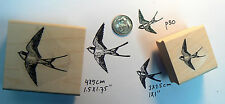 2 swallow birds rubber stamps   P30