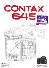 Contax 645 AF prospectus brochure - (14601)