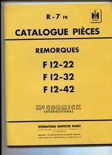 R-7  FR  : Mc Cormick ;catalogue pièces presse remoques F12     decembre 1964