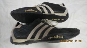 Vintage Adidas Tuscany trainers size 11.5 UK black white Goodyear sole leather