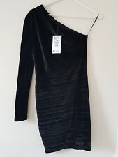 Stunning Bershka black asymmetric dress bnwt - size M (party/night out)