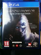 Middle Earth Shadow of Mordor GOTY Edition (Sony PlayStation 4 2015) UK version