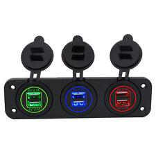 12V/24V Motorcycle Car Cigarette Lighter Socket Dual USB Power Adapter Charger