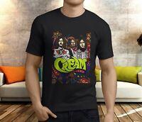 CREAM Band Eric Clapton Vintage Short Sleeve Cotton T-Shirt Black  Men E345
