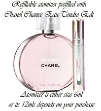CHANEL CHANCE EAU TENDRE EAU DE TOILETTE 12ml SPRAY RICARICABILE NEBULIZZATORE