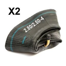 "2x Mobility Scooter Inner Tube 2.80/2.50-4 280/250-4 2.50-4 2.80-4 Bent Valve 4"""