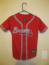 Justin Upton - Atlanta Braves RED jersey - Majestic youth Medium