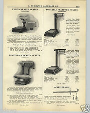1926 PAPER AD Fairbeanks Grocers' Counter Scale Platform Warehouse Scale Beam