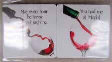 Coasters Wine Enthusiast Set of 4 Non-slip