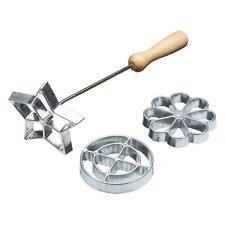 Kitchen Craft Home Made Swedish Rosette Iron Set Scandinavian Cookies 3 Shapes