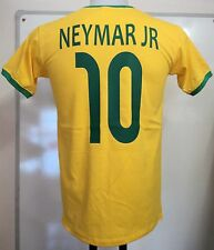 BRAZIL NEYMAR JR 10 RETRO FOOTBALL TEE SHIRT SIZE ADULT XL BRAND NEW