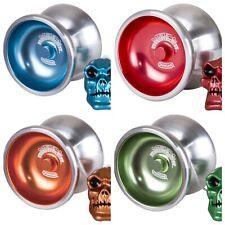 Duncan Metal Drifter Yo Yo With Skull Counterweight + 3 Neon Strings Your Choice