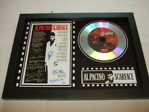 SCARFACE SIGNED  framed silver disc film display