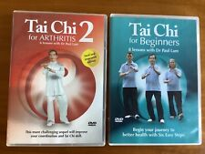 Tai Chi for Beginners + Tai Chi for Arthritis 2 DVDs Dr Paul Lam Exercise Health