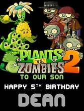 Personalised Plants vs Zombies Birthday Greeting Card with Envelope 262