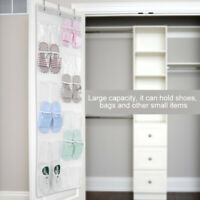 Transparent Door Hanging Bag Shoe Rack Hanger Storage Tidy Organizer 24 Pockets