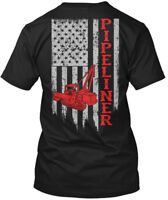American Pipeliner Flag - Hanes Tagless Tee T-Shirt